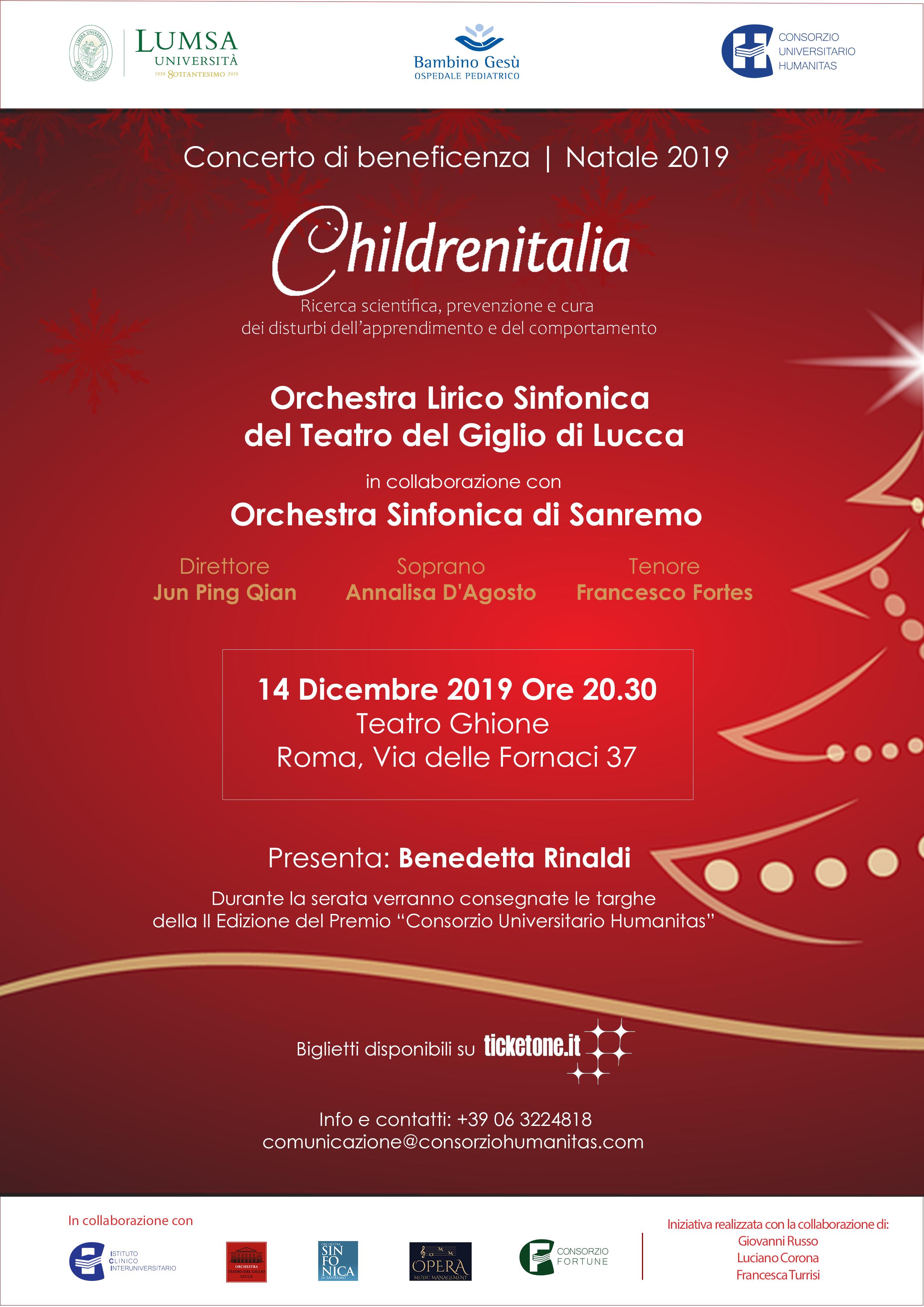 Locandina_Concerto di Natale 2019_Childrenitalia